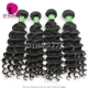 3 or 4 pcs/lot Cheap Brazilian Standard Hair Weave Deep Wave 100% Human Vigin Hair Extensions