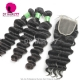 Best Match Top Lace Closure With 3 or 4 Bundles Brazilian Loose Wave Standard Virgin Human Hair Extensions