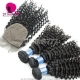 Best Match 4*4 Silk Base Closure With 3 or 4 Bundles Peruvian Deep Curly Royal Virgin Human Hair Extensions