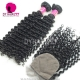 Best Match 4*4 Silk Base Closure With 3 or 4 Bundles Malaysian Deep Curly Royal Virgin Human Hair Extensions