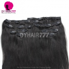 DY Hair Clip In Hair 100% Virgin Human Hair Extensions Natural Color 1B