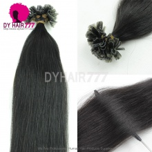 Brazilian Virgin Hair U tip Straight Hair Nature black 100g