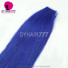 Cheap Virgir Brazilian Straight Hair Blue Tape hair extension 20pcs 50g