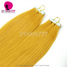Brazilian Virgin Silk Straight Hair Unprocessed Orange Tape Hair Extension 20pcs 50g
