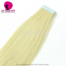 100% Unprocessed With Cuticle #613 Tape hair extension straight 20pcs 50g