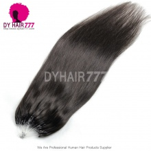 Micro Rings/Loops Brazilian Human Hair Extension Color 1B# 100g