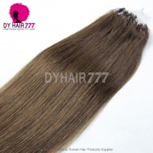 Micro Rings/Loops Brazilian Human Hair Extension Color 4# 100g/Bundle