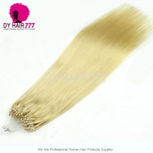 Micro Rings/Loops Brazilian Human Hair Extension Color 613# 100g