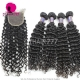 Best Match Top Lace Closure With 3 or 4 Bundles Cambodian Deep Curly Standard Virgin Human Hair Extensions
