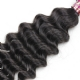 Royal 1 Bundle Brazilian Virgin Deep Wave Human Hair Extensions Natural Color
