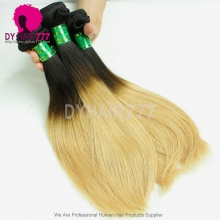 1 Bundle Two Tone Color Hair Weaving Weft 1B/27 Brazilian Standard Human Hair Straight Extensions DY Beauty