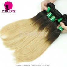 3 or 4 pcs/lot Two Tone Color Hair Weaving1B/27 Brazilian Standard Human Hair Straight Extensions