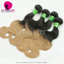 3 or 4pcs/lot Bundle Deals Ombre Hair Extensions Brazilian Standard Body Wave 1B/27