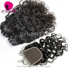 Best Match Top Lace Closure With 3 or 4 Bundles Malaysian Natural Wave Standard Virgin Human Hair Extensions