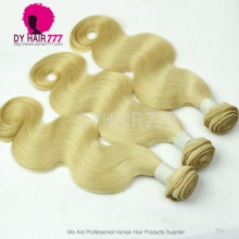 3 or 4 pcs/lot European Virgin Hair Weave Color 613 Bleach Blonde Body Wave Hair Extensions