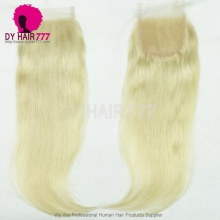 Blonde 613 Lace Top Closure (4*4) Straight Hair Human Virgin Hair Free Part Middle Part Two Part Three Part