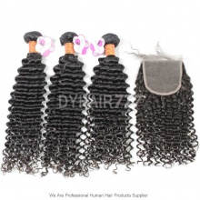 Best Match Top Lace Closure With 3 or 4 Bundles Royal Burmese Virgin Hair Extension Deep Culry Hair Extension