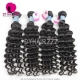 Best Match 4*4 Silk Base Closure With 4 or 3 Bundles Royal Virgin Remy Hair Peruvian deep wave Hair Extensions