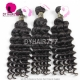 Best Match 4*4 Silk Base Closure With 4 or 3 Bundles Royal Virgin Remy Hair European deep wave Hair Extensions