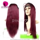 130% Density Lace Front Wig Color 1B/99J Ombre Straight Hair Virgin Human Lace Wig