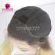 130% Density Lace Front Wig Ombre Color 1B/613 Straight Hair Virgin Human Lace Wig
