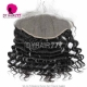 Ear to Ear 13*6 Lace Frontal Closure Curved Lace Loose Wave Human Virgin Hair Natural Color