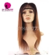 130% Density Lace Front Wig Color 1B/30 Ombre Straight Hair Virgin Human Lace Wig