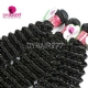 Best Match 4*4 Silk Base Closure With 4 Bundles Standard Virgin Malaysian Deep Curly Human Hair Extensions
