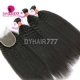 Best Match Royal 3 or 4 Bundles Burmese Virgin Hair Kinky Straight With 4*4 Top Lace Closure Hair Extensions