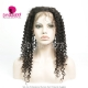 360 Lace Band Frontal Bleached Knots Virgin Human Hair Deep Curly With Baby Hair