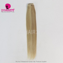 Color P18/613 Brazilian Straight Hair Human Hair Extension