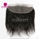 C Part Lace Frontal Closure 13*4 Pre Plucked & Pre-Parted Human Virgin Hair Straight Hair