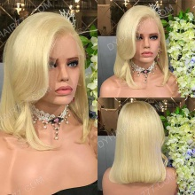 Full Lace Wig 130% Density Color 613 Human Hair Customize Wig 5 Working Days Ready F613C1-F