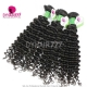 3 or 4 Bundle Deals Deep Curly Brazilian Standard Virgin Hair Natural Color 1B DY Hair Extensions