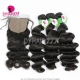 Best Match 4*4 Silk Base Closure With 3 or 4 Bundles Brazilian Loose Wave Standard Virgin Human Hair Extensions