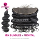 Lace Frontal With 3 Bundles Malaysian Body Wave Standard Virgin Hair Human Hair Extenions