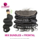 Lace Frontal With 3 Bundles Burmese Body Wave Standard Virgin Hair Human Hair Extenions