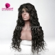 130% Density 1B# Top Quality Virgin Human Hair Natural Wave Full Lace Wigs Natural Color