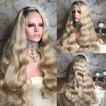 Full Lace Wig 300% Density Human Hair Customize Wig 7 Working Days Ready GDLW46-F