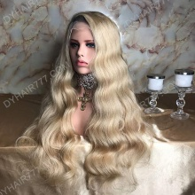 Lace Front Wig 300% Density Human Hair Customize Wig 7 Working Days Ready GDLW46-L