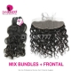 13*4 Lace Frontal With 3 Bundles Royal Virgin Peruvian Natural Wave Human Hair Extensions