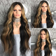 Full Lace Wig 200% Density Human Hair Customize Wig 7 Working Days Ready TRLW29-F