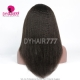1B# Top Quality Virgin Human Hair Kinky Straight Full Lace Wigs