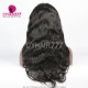 130% density Human hair silk base top closure Full lace wigs body wave natural color