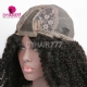 300% Density Machine Made Wig Kinky Curly Virgin Human Hair Natural Color