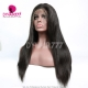1B# Top Quality Virgin Human Hair Straight Hair Full Lace Wigs Natural Color