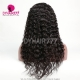 130% Density #1B Virgin Human Hair U Part Wigs Deep Wave Hair Lace Front Wig