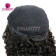 130% Density #1B Virgin Human Hair U Part Wigs Deep Curly Lace Front Wig