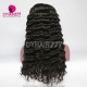 130% Density 1B# Top Quality Virgin Human Hair Loose Wave Lace Frontal Wigs