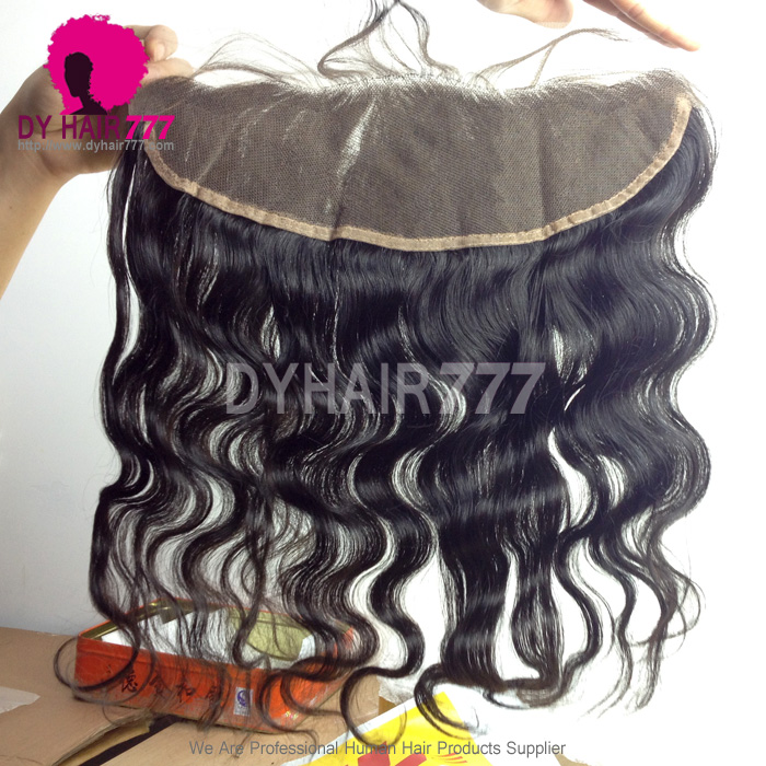 Ear to Ear 13*4Lace Frontal Closure Human Virgin Hair Body Wave Natural Color